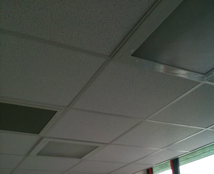 Example of a grid ceiling