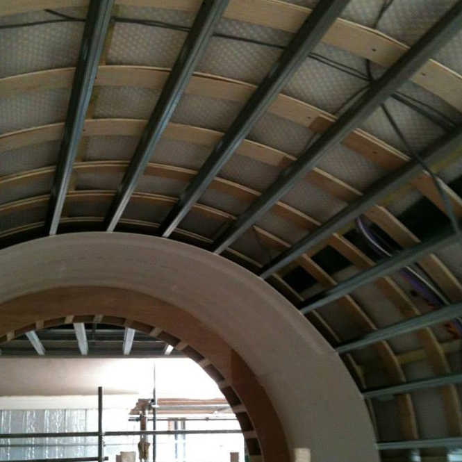 Example of a curved MF ceiling